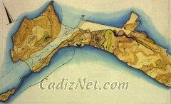 Cadiz:El Canal Bahía-Caleta, que dividía Cádiz en dos islas.