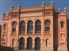 Cadiz:Este es el aspecto de la fachada principal del Gran Teatro Falla, que acoge cada año el concurso de agrupaciones carnavalescas