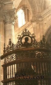 Cadiz:Detalle de la reja del coro