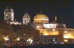 Cadiz:Este es el magnífico aspecto que ofrece la catedral gaditana, por la noche