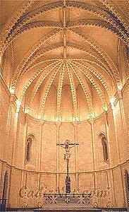 Cadiz:Vista del ábside y bóveda de crucería
