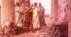Cadiz:Visita de Julio César al Templo de Hércules