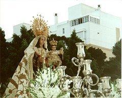 Cadiz:La Virgen del Carmen en su salida procesional conmemorativa del I Centenario como Patrona de la Armada