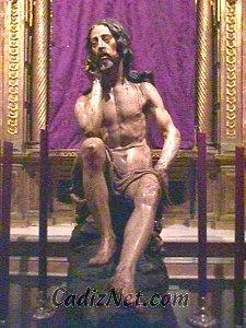 Cadiz:La talla del Cristo de la Humildad y Paciencia representa un misterio reflejado con maestría en el rostro y la postura del cuerpo