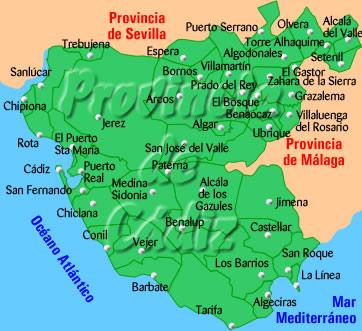 Cadiznet Guia De Poblaciones En La Provincia De Cadiz Provincia